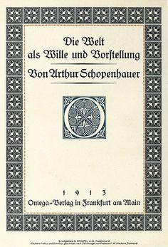 Arthur Schopenhauer, Die Welt als Wille und Vorstellung