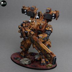 Tau Warhammer, Warhammer Figures, Warhammer Paint, Warhammer Models, Warhammer 40k Miniatures, Tau Battlesuit, Fire Warrior, Military Robot, Age Of Sigmar