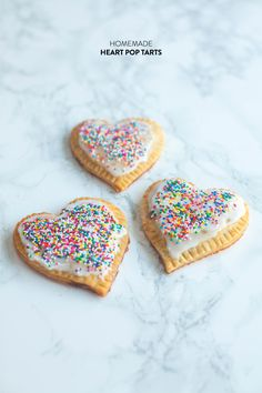 Homemade Heart Pop Tarts  Read more - http://www.stylemepretty.com/living/2014/02/14/homemade-heart-pop-tarts/