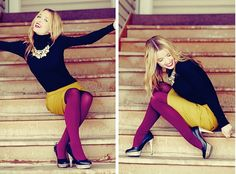 Shoes: Jessica Simpson, Tights: Simply Vera Wang, Skirt: Ruche, Turtleneck: c/o YesStyle, Necklace: giveaway win! c/o Pig and Pepper