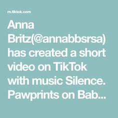 Anna Britz(@annabbsrsa) has created a short video on TikTok with music Silence. Pawprints on Baby onesies #orderonline #babyonesie #pawprints #care4pets #baby #care4animals #cute #petpaws #babyclothing #babyshowergift #unisex Jenna Lee, Coffee Music, Music Paper, Remember Who You Are, Doja Cat, Dear Future Husband, Good Energy, Easy Peasy, Pasta Recipes