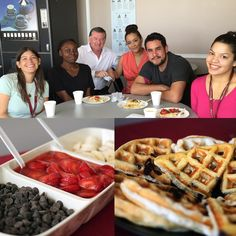 LA Campus waffle study session. #fremontcollege #waffleparty #toppingsgalore #finalsweek #study