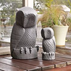 {Carter & Cunningham Owls} These guys would look adorable on the deck or the patio.