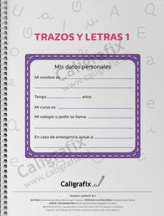 Trazos y Letras Nº1 Bullet Journal, Album, Reading, School, Instagram, Facebook, Texts, Preschool Alphabet Activities, Preschool Math Activities