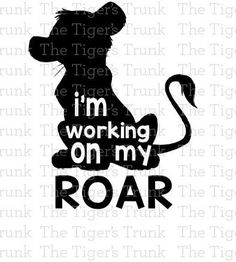 This is a digital download of a Im Working on my Roar Lion-King-inspired cutting file set. With this purchase, you will receive a zipped folder containing this image in SVG, DXF, and JPG formats. These files are suitable for use in Cricut Design Space, Sure Cuts A Lot, Make The Cut, Silhouette Basic Edition, and Silhouette Designer Edition. You may use any type of vinyl, so the color of the image does not matter. You may not share or sell these files for any reason. Due to the nature of…