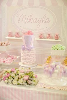 TuTu's & Sparkly Shoes themed birthday party via Kara's Party Ideas : The Cake