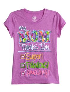 Mom Thinks I'm Super Graphic Tee | Girls {category} {parent_category} | Shop Justice