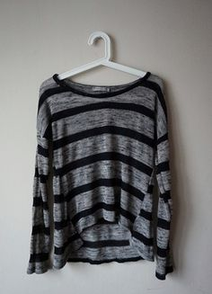 sweterek szaro czarny