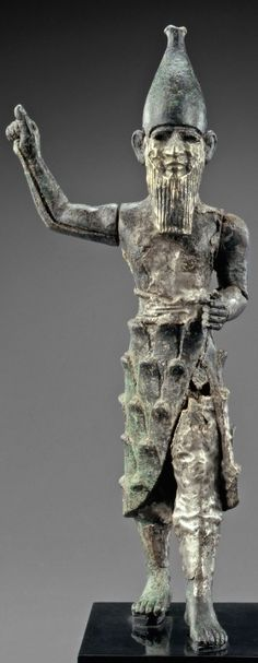 Hittite Bronze, Silver and Electrum Statuette of a Mountain God / 1750-1250 BCE…