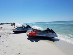 Jet ski rentals on the beach