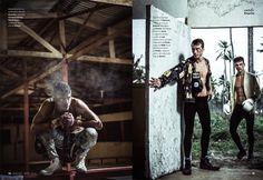Clement Chabernaud + Alexandre Cunha Work Up a Bloody Sweat for Esquire España image esquire espana photos 001