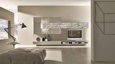 Minimal Grey Color Living Room Design