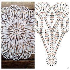 No photo description available. Crochet Stitches Free, Crochet Doily Diagram, Crochet Doily Patterns, Crochet Chart, Thread Crochet, Crochet Motif, Crochet Designs, Crochet Tablecloth Pattern, Crochet Shoes Pattern