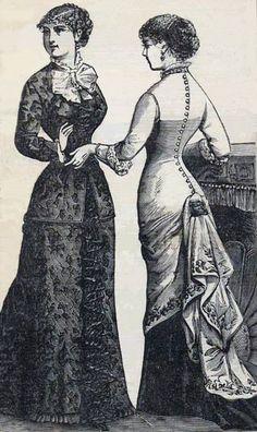 peterson's magazine images | Winter In-Door Dresses ~ Peterson's Magazine, 1881
