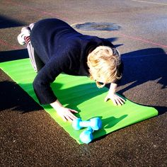 Kate got a new mat - no more avoiding sessions now - get moving Lewes
