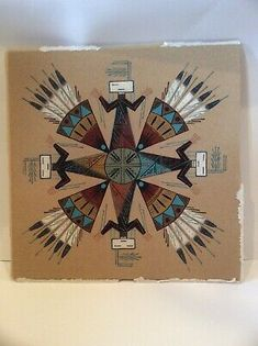 Rosie Manuelito Signed Navajo Dine Sand Art Used In Healing Ill Person Ceremony. Condition is Used. Very lovely. Navajo Pottery, Southwest Pottery, Pueblo Pottery, Sand Painting, Sand Art, Tom Clark, Native American Print, Currier And Ives, Painted Gourds
