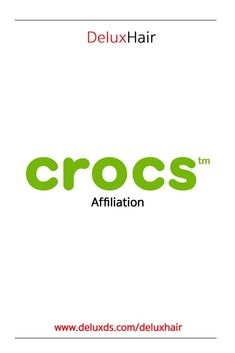 DeluxHair is now in affiliation with Crocs! DeluxHair is now an affiliate of Crocs. Crocs is a shoe apparel brand that came on the scene back during the year of Natural Haircare, Crocs, Announcement, Hair Care, Natural Hair Styles, Hairstyle, Hair Job, Hair Style, Hair Care Tips