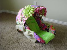 This is sooo cute...makes me want another girl! haha   FALL SALE Custom Car Seat Cover by BabyBelovedBoutique on Etsy, $84.00
