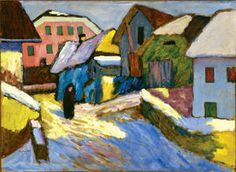 Schnee und Sonne (Snow and Sun), Gabriele Münter