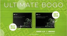 OH WHAT?!?! A BOGO SALE!?!?!? From now til Tuesday, 21 April, you can buy 1 box of the Ultimate Body Applicators for $59 and get a second box for FREE!!! ARE YOU KIDDING ME?!?! That's 8 individual wraps! GET YOURS TODAY!! www.skinnywrapsbycorbyn.myitworks.com