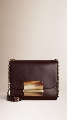 Black cherry Small Leather Crossbody Bag - Image 1