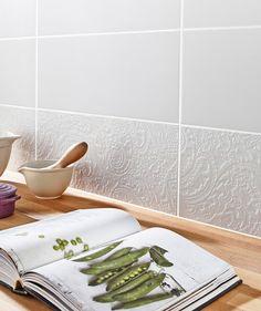 Belleza Lunar White Ornate - Toppstiles Tiles, £39.99 per M2