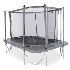 Trampoline for everyone, summer or winter, grey and big.