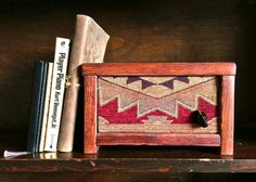 Speakers for your iPod or iPhone made from reclaimed wood and patterned fabrics, via SalvageAudio on Etsy.