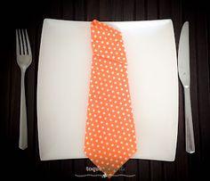Decoração com guardanapos: gravata  Nakping tie