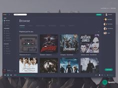 Spotify - Unofficial Redesign designed by Goutham. Connect with them on Dribbble; Dashboard Ui, Dashboard Design, Web Design, Design Ideas, Ui Inspiration, Ui Kit, Web Application, Data Visualization, Design Development