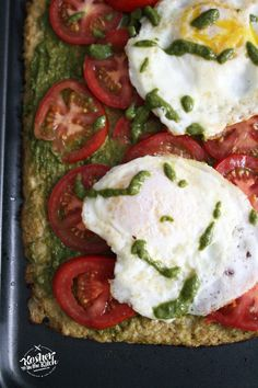 Feed your carb cravings with this deliciously healthy cauliflower crust pizza! It's full of flavor without the guilt of calories. Ingredients for Crust: 1 head of cauliflower 1 egg Pesto ...