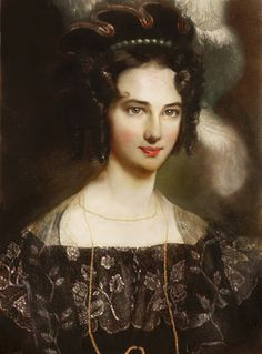 Princess Maria Teresa of Savoy Daughter of Victor Emmanuel I of Sardinia and Archduchess Maria Teresa of Austria-Este. Wife of Charles II, Duke of Parma. Mother of Princess Luisa of Parma and Charles III, Duke of Parma Maria Theresa, Teresa, Women In History, Art History, European History, Parma, Painted Ladies, Old Master, Woman Painting