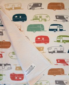 Organic Baby Blanket CAMPER RALLY by organicquiltcompany on Etsy