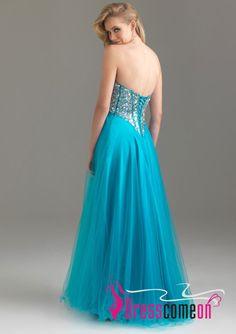 Floor-Length Crystal Beaded Bodice Tulle Skirt Evening Dress