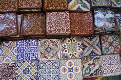 Moroccan tiles but they look a lot like the ones we have in Santa Fe. Moroccan Design, Moroccan Tiles, Moroccan Pattern, Tile Patterns, Print Patterns, Home Interior Design, Interior Decorating, Homemade Home Decor, Style Tile