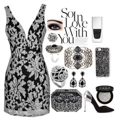 Black and Silver Filigree by lena-kontos on Polyvore featuring Ted Baker, Judith Leiber, Stephen Webster, Nicole Miller, Casetify, Gucci, Givenchy and JINsoon