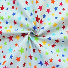 100% Baumwolle - bunte Sternenparade #wirliebenstoffe #Stoff #Stern