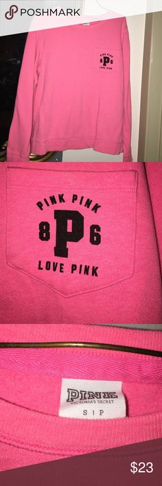 VS PINK crew neck Great condition ! PINK Victoria's Secret Tops Tees - Long Sleeve