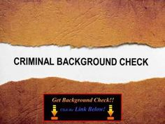 Site for free background checks