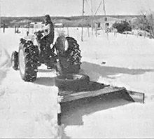 Has a nine-inch snowfall caught you unprepared? Well, if you can't move it out, pack it in with a homemade snow plow.