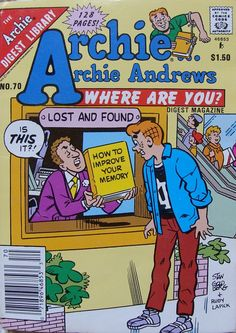 1990 Archie Digest Library Archie Where Are You by BibbiLousBounty, $6.00