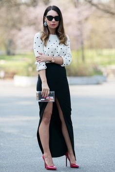 "Ivory Zara Sweaters, Black Split Maxi Asos Skirts | ""Dress To ..."
