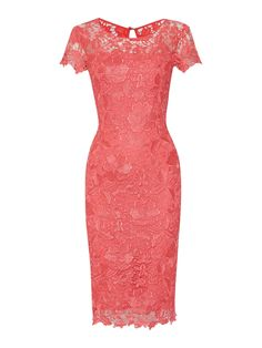 Shubette Cap sleeve shoulder gupuire lace dress, Pink Mother of the Bride outfit