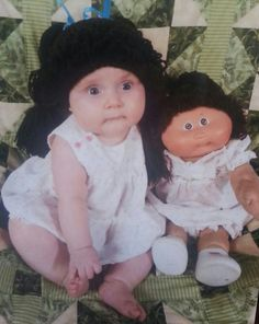 Crochet Custom Cabbage Patch Doll Inspired Hat by CrazyLeggies, $20.00