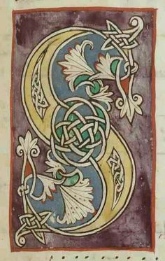 Celtic knots within an illuminated letter. - Celtic knots within an illuminated letter. Celtic knots within an illuminated letter. Alphabet Art, Calligraphy Alphabet, Letter Art, Preschool Alphabet, Letter Tracing, Alphabet Crafts, Graffiti Alphabet, Islamic Calligraphy, Celtic Patterns