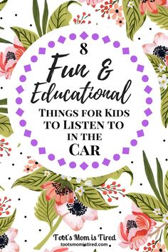 8 Fun and Educational Things for Kids to Listen to in the Car | Limit screen time in the car! Here is what a toddler recommends: 8 fun and educational things for kids, toddlers, and babies to listen to in the car. | tootsmomistired.com