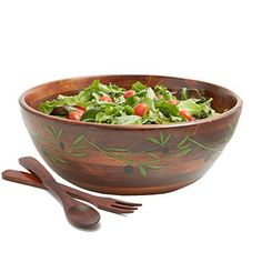 Since 1975 Woodard & Charles has been a leading importer of responsibly produced and environmentally sound salad bowls, a wide collection of casual entertaining items and our popular mesh food Domes. Our products are exclusively from Thailand, the Philippines and Vietnam. Our varied... see more details at https://bestselleroutlets.com/home-kitchen/kitchen-dining/dining-entertaining/bowls/salad-bowls/product-review-for-woodard-charles-wc598-3-3-piece-olive-branch-salad-bow