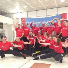 The Taoist Tai Chi Society pause for a photo in North Terminal #lgwlive #taichi #gatwick