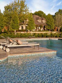 Pool wading area