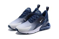 Nike shoes air max - Nike Air Max 270 Flyknit Spectrum Navy Blue White Men's Casual Shoes – Nike shoes air max Navy Blue Nike Shoes, Navy Blue Sneakers, Cute Nike Shoes, Cute Sneakers, Nike Air Shoes, Sneakers Mode, Casual Sneakers, Sneakers Fashion, Casual Shoes